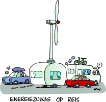 Energiekalender cartoon Windcaravan