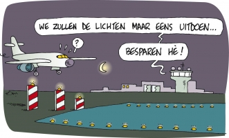 Cartoon Energiekalender Lichten doven