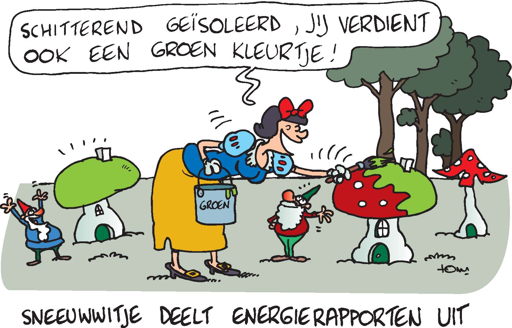 Cartoon Energiekalender Energierapport